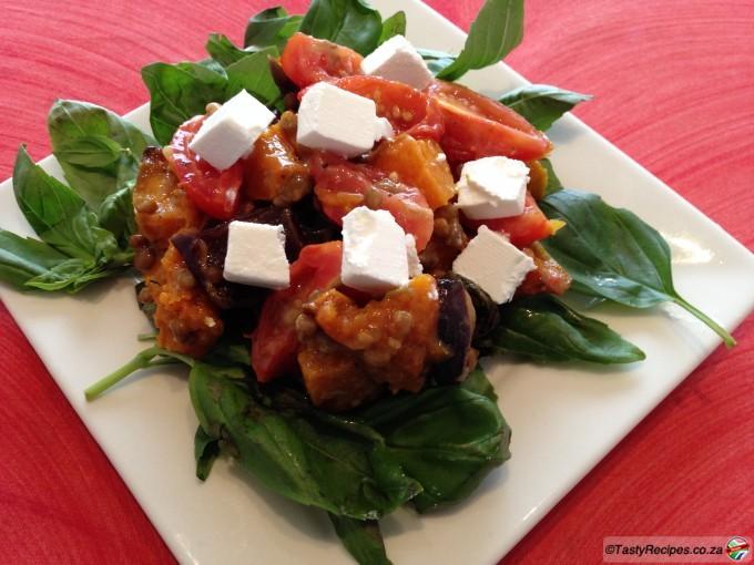 Pumpkin and Brinjal Salad Recipe