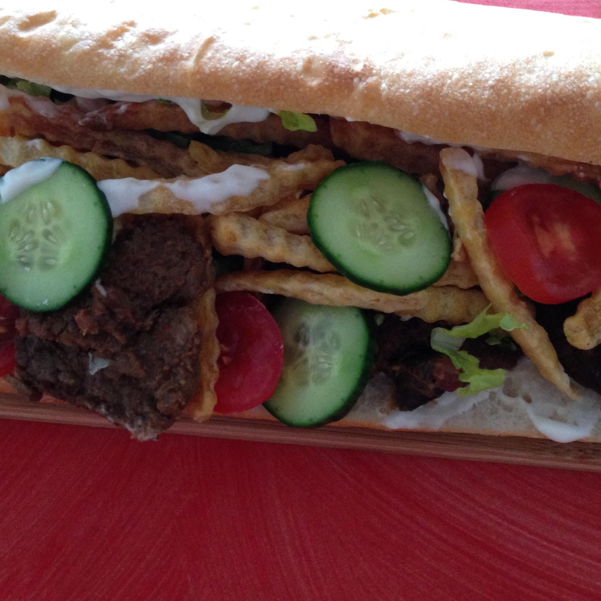 Masala Steak Gatsby Sandwich Tasty Recipes