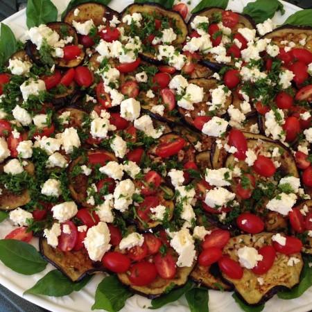 Aubergine & Tomato Salad Recipe