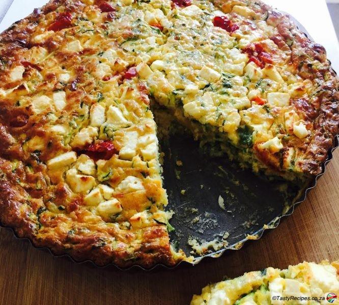 zucchini and feta tart