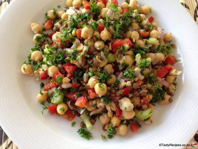 LENTIL AND CHCKPEA SALAD