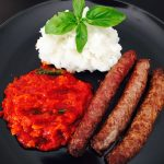 PAP AND TOMATO RELISH WITH BOEREWORS