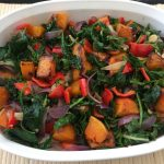 ROASTED PUMPKIN AND SPINACH BAKE