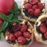 MINI ROASTED TOMATO AND FETA TARTS