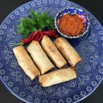 CHICKEN AND VEGETABLE SPRING ROLLS