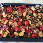 VEGETABLE AND HALLOUMI TRAY BAKE