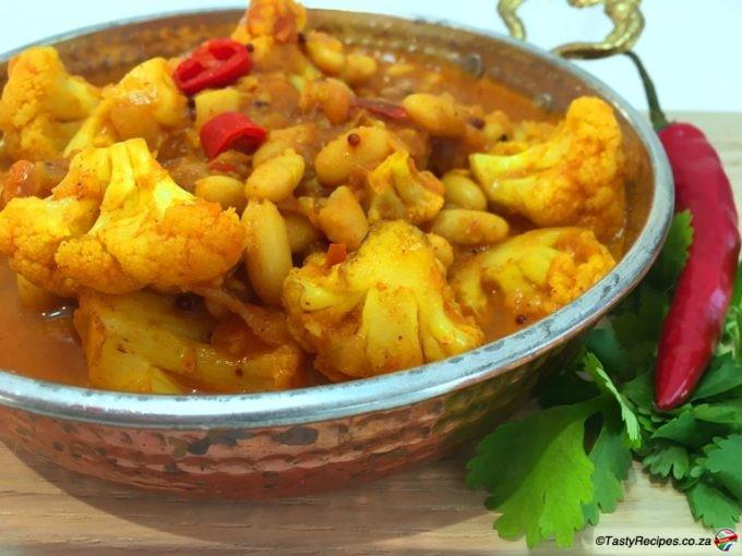 cauliflower and bean curry recipe