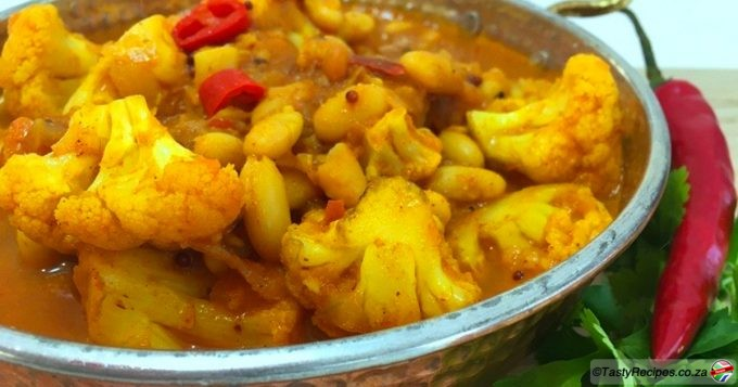 cauliflower and bean curry recipe
