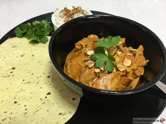 almond and coconut chicken curry recipe