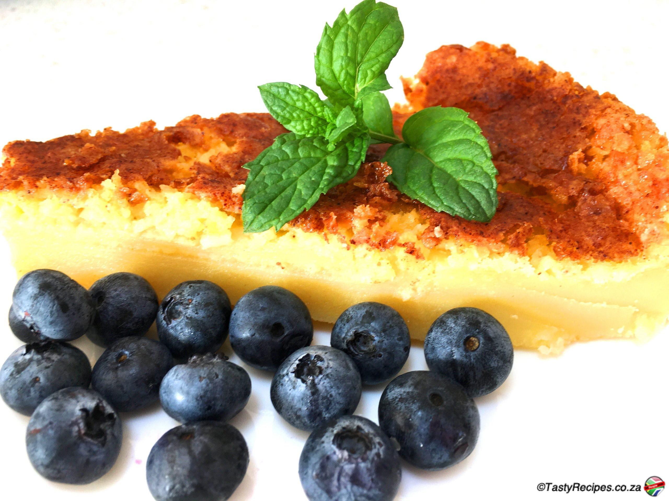 Crustless Milk Tart Sapeople South African Recipes
