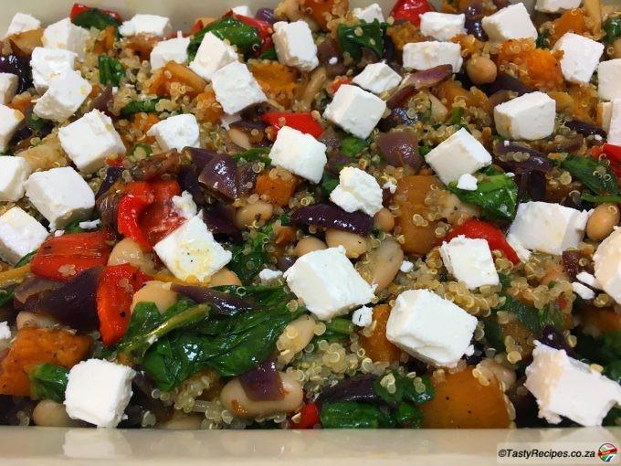 roasted veg and quinoa bake recipe
