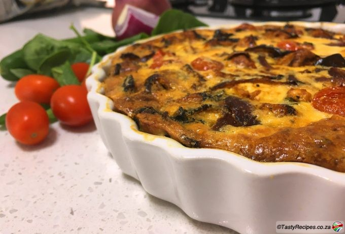 crustless roasted vegetable quiche recipe