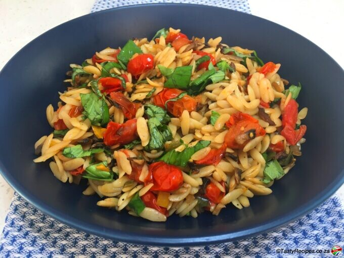 roasted tomato orzo pasta recipe