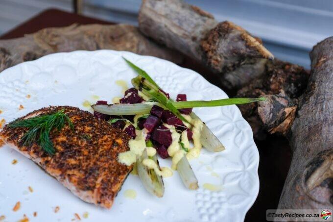 Rooibos infused salmon